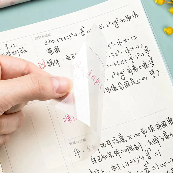 Transparent Sticky Notes With Scrapes